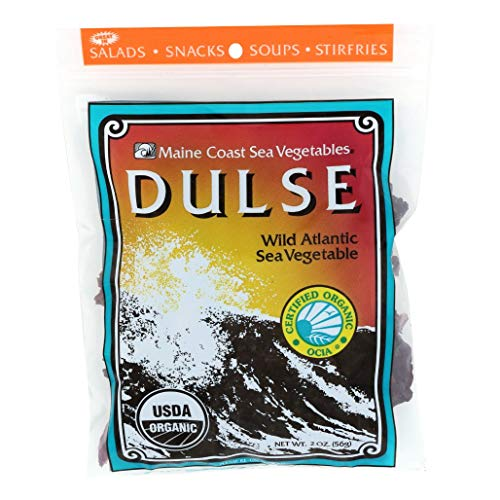 Dulse Whole Leaf | 2 oz Bag | Organic Seaweed | Maine Coast Sea Vegetables