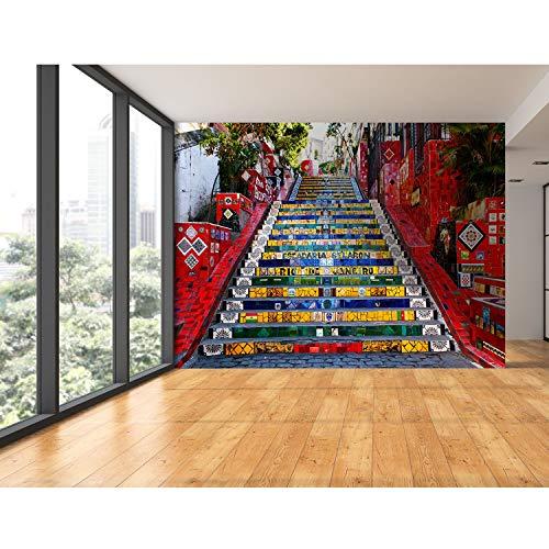 Startonight muurschildering stappen naar Barcelona - abstract fotobehang 100 x 144 inch - 2,56 x 3,66 m