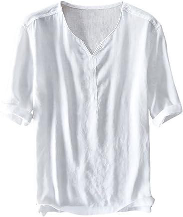 63ed2484513 Henstenve Mens Short Sleeve Button Henley T Shirt Casual Slim Fit Basic  Summer Tops Tee