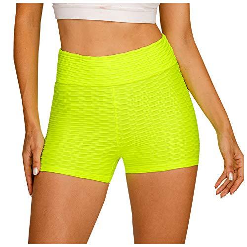 GANBADIE - Pantalón de cintura alta para mujer, elástico, correr, fitness, yoga, pantalones de ciclismo...