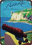 Shimeier Puerto Rico Reise-Poster, Vintage-Look,