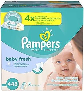 Pampers Toallas Húmedas, Baby Fresh, Paquete de 448 Piezas