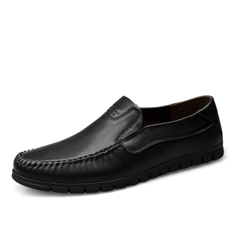 [MUMUWU] メンズシューズ 通気 ビジネス 防水 レザー 柔らかい 滑り止め 紳士 靴 モカシン ビジネスシューズ