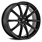 Platinum 435SB Flux Satin Black with Satin Clear-Coat Wheel with Painted Finish (18 x 8. inches /5 x 110 mm, 35 mm Offset)