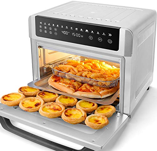 Gevi Air Fryer Toaster Oven, Convection Roaster with Rotisserie & Dehydrator, 13-in-1 Countertop Oven, LED Display, 6 Accessories with Recipe, UL Listed, 19 Quart