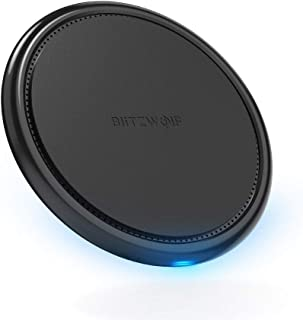 Wireless Charger, BlitzWolf 10W 7.5W 5W Wireless Charging Pad for iPhone Xs/MAX/XR/X/ 8/8 Plus, Samsung S8/ S8 Plus/Note 8/7/ S7/ S7 Edge/ S6, LG G3, Nexus 4/5/6/7 and All Qi-Enable