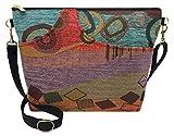 Danny K. Women's Tapestry Bag Shoulder Handbag, Large Zipper Purse Handmade in the USA (Wild Mango)