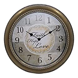 Mainstays 12 Inch Inspirational Clock- Faith, Hope , Love Message