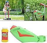 NanXi Kinder seifenblasenmaschine elektrische seifenblasen Spielzeug Kinder Bubble Maker, Automatischer Seifenblasen Angetrieben von Batterie für Roller Fahrrad Outdoor und Indoor