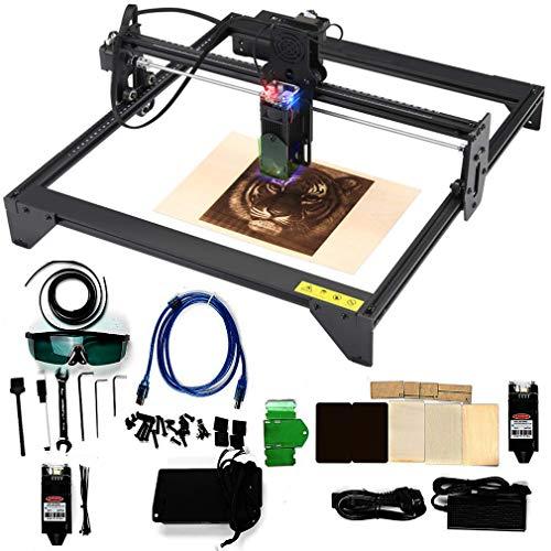 Carving Machine DIY Kit, Incisore laser da tavolo da, CNC Laser Incisore macchina, PVC Intaglio Legno Fresatura Incisione Macchina, Laser per la protezione degli occhi, area fresatura 400X430 mm (20W)