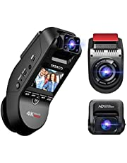YAZACO P3Pro 3カメラ搭載 ドライブレコーダー 前後カメラ 業界最高Sony IMX415センサー自動的に駐車モードに切り替え機能 360度回転カメラ 4KUltra HD ドラレコ GPS内蔵 800万画素 車内外同時録画 2.0インチ 赤外線暗視機能 動体検知 駐車監視 LED信号対応 衝撃録画 18ヶ月保証期間