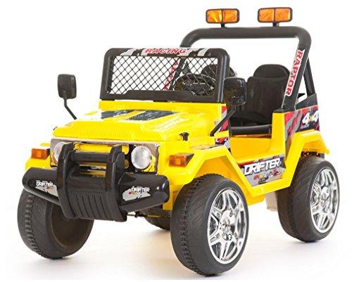 babyfun Macchina Elettrica per Bambini 2 posti 12V Jeep Safari 618 Gialla