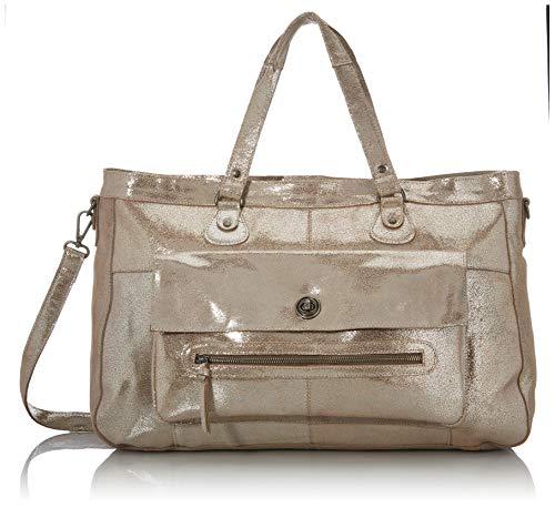Pieces PCTOTALLY Royal Leather Travel Bag Noos, Sac à main. Femme, Couleur argenté/Blanc, Taille unique