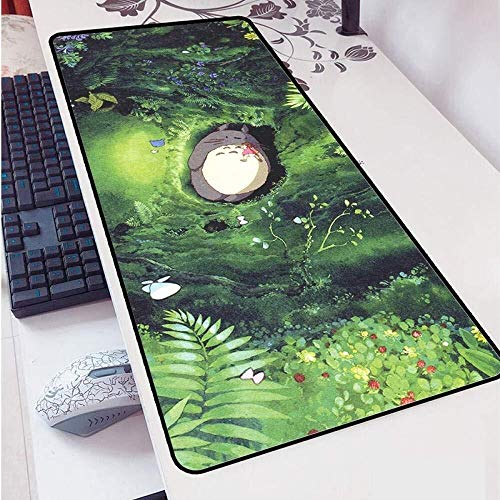 CFTGB Gaming Mouse Pad Grote Muismat Japanse Anime Totoro Speel Toetsenbord Mat Cafe Mat Uitgebreide muismat voor computer PC-muismat