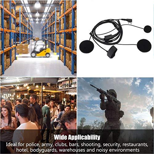 ROMACK Casco Auriculares Auriculares universales, para walkie-Talkie, para Radio PTT, para micrófono