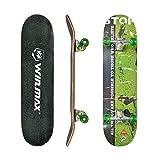 WIN.MAX Completo Skateboard para Principiantes 31'x8' 7 Capas Monopatín de...