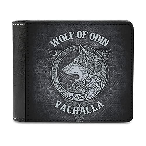 Tobgreatey Odin - Tarjetero para hombre, diseño vikingo, Walhalla Wolf, White4, Einheitsgröße