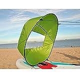 Bluelliant Vela Kayak Accesorios De Canoa Hinchable Barco Piraguas Mar Ocean Portátil Windsurf Deportes Acuáticos, Verde