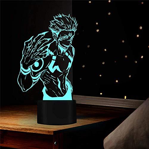 3D ilusión lámpara regalo Jujutsu Kaisen Playstation Lights 16 colores regulables USB Powered Control táctil con control remoto, regalos creativos para niños de 10 años