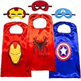 Superhero Capes for Kids-Superhero Costumes for Boys Superhero Toys for Kids Dress up 4-10 Year Old Boy Gifts (3PCS)