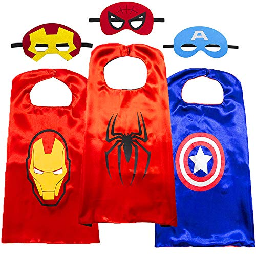 Superhero Capes for Kids-Superhero Costumes for Boys Avengers Toys for Kids Dress up 4-10 Year Old Boy Gifts (3PCS) Minnesota