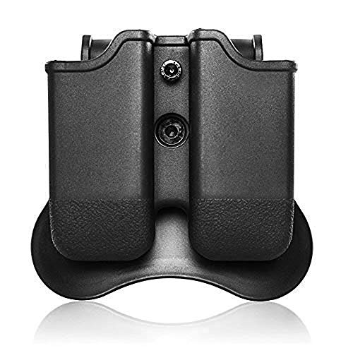 CYTAC Glock Magazine Holster 9mm .40 Cal Double Stack Mag Pouch, Dual Mag Holder Fit Glock 17 19 22 23 26 27 31 32 33 34 35 37 38 39
