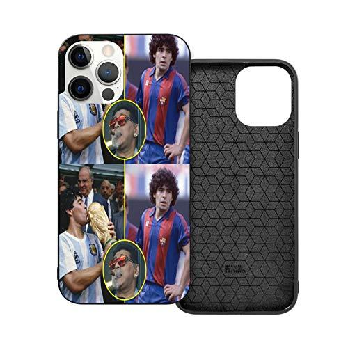 Mara-dona - Carcasa de cristal para iPhone 12 Pro Max y iPhone 12 mini, diseño de la selección de fútbol argentina