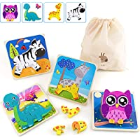 Beetoy Wooden Animals Jigsaw Educational Puzzles