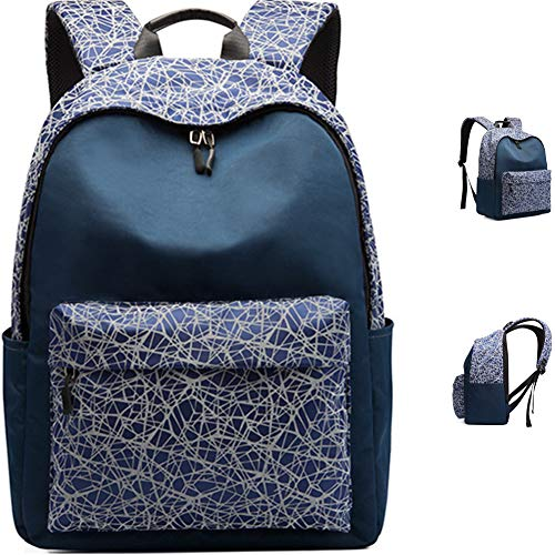 TOOSD School Backpack 15.6 Inch for Junior And Senior School Students Waterproof And Anti-Theft School Bags,B