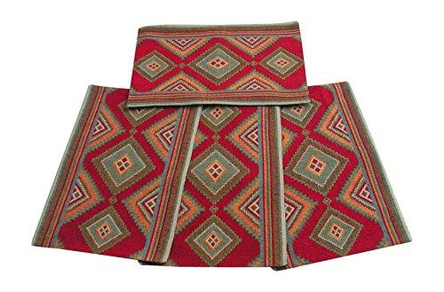 Kinara Izmir Southwestern Design Set of 4 Place-Mats, 13x19 Inches,