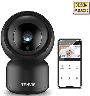 TENVIS Cámara Vigilancia IP WiFi - 1080P FHD Cámara Interiores Monitor de Detección de Movimiento Visión Noturna Audio Bidireccional Compatible con Alexa Cámara de Seguridad para Bebé y Mascotas