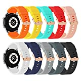NBDTEK 10 Pack Bands Compatible with Samsung Galaxy Watch 3 Band 45mm/Galaxy Watch 46mm Band/Gear S3, 22mm Soft Silicone Sports Strap Accessories for Gear S3 Frontier Classic For Men Women (10PCS)