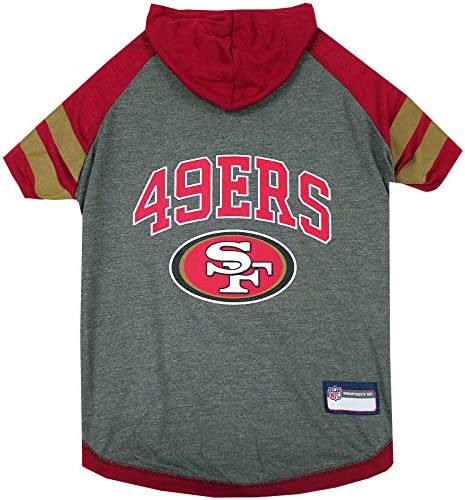 Pets First NFL SAN Francisco 49ERS Hoodie for Dogs Cats NFL Football Licensed Dog Hoody Tee product image