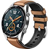 HUAWEI Watch GT Classic 46mm Braun [3,5cm (1,39') AMOLED Display, Bluetooth 4.2, 5 ATM]