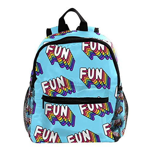 Cool Backpack Kids Sturdy Schoolbags Back to School Backpack for Boys Girls,Funny Rainbow Colorful Fun Pattern