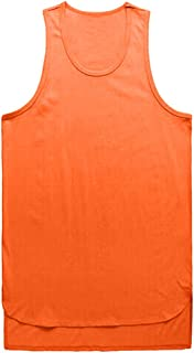 POQOQ Vest Tank Men Irregularity Casual Sport Pure Color Sleeveless Shirt Tee Blouse