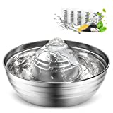 Cat Water Fountain Stainless Steel,oneisall Multi-Pet Water Fountain,Dog Water Fountain with Ultra-Quiet Pump&Dishwasher Safe Design,2L/67oz Automatic Pet Drinking Fountain &5 Filters for Cats