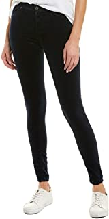 Ag Jeans Womens The Farrah After Dark Velvet High-Rise Skinny Ankle Cut, 24, Blue