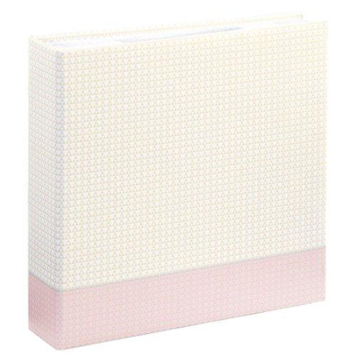 Hama fotoalbum voor 200 foto's filigrana, memo-album met 100 pagina's, voor het insteken van 200 foto's in het formaat 10 x 15, 22,5 x 22 cm, insteekalbum fotoboek pastel-roze