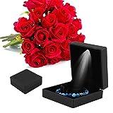 Rotekt 4Types LED encendió el anillo/el colgante/la pulsera/la caja de almacenamiento del regalo de la caja de exhibición de la joyería del collar (03)