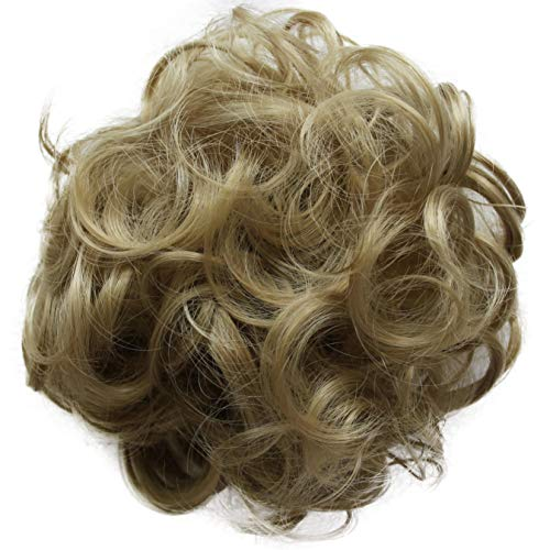 PRETTYSHOP Postizo Coletero Peinado alto, VOLUMINOSO, rizado, Moño descuidado rubio...