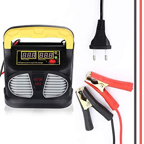 CENXINY Autobatterie Ladegerät 12V/24V 10A LCD-Display, KFZ Batterieladegerät für Auto Motorrard Boot, Mehrfach-Schutz, 2 Aufladensmodi