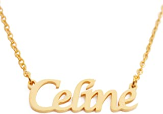CELINE Custom Name Necklace Personalized - 18ct Gold Plated