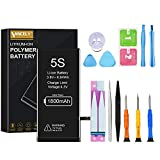 Vancely Batería para iPhone 5s | Batería Premium con Herramientas | Potente Batería de sustitución | Celdas MÁXIMA AUTONOMÍA | Fecha de fabricación del 2020 |