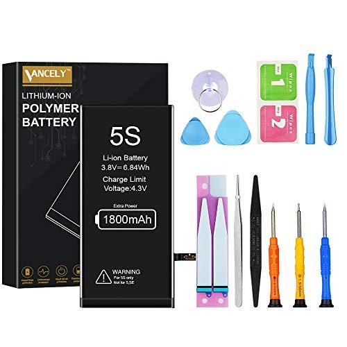 Vancely Batteria per iphone 5S 1800mAh