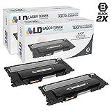 LD Compatible Toner Cartridge Replacement for Samsung K407 CLT-K407S (Black, 2-Pack)