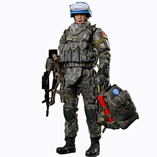 1/6 Blue Helmet Warriors Action Figuren Militär Soldat Modell Chinesisches Infanteriebataillon Der Friedenssicherung Sammel Statuen Geschenk Für Kinder Und Erwachsene 30Cm