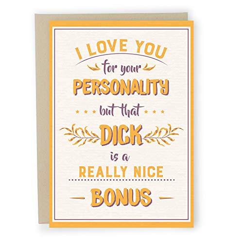 Sleazy Greetings Naughty Anniversary Card | Rude Funny Birthday Card for Boyfriend Husband Fiance Him | Funny Valentine's Day Card | Really Nice Bonus Card