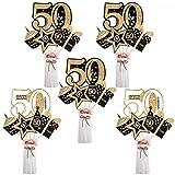 Opopark 24 Piezas de Decoración de Fiesta de Cumpleaños Set Accesorios de Decoración de Fiesta de Cumpleaños de Oro(50)