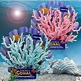 YXHM Coral artificial de resina para acuario, decoración de acuario, coral, decoración de plantas artificiales, paisaje, decoración de acuario, color rosa, S